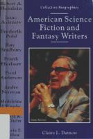American Science Fiction and Fantasy Writers  0766010902