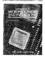 Experiments in Microprocessors and Interfacing: Programming and Hardware [2ed.]  0070257434, 9780070257436