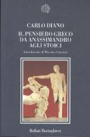 Il pensiero greco da Anassimandro agli Stoici  8833917789, 9788833917788