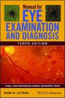 Manual for Eye Examination and Diagnosis [10ed.]  111962858X, 9781119628583