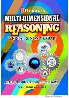 Multi Dimensional Reasoning (Verbal & Non-Verbal)  8174825835, 9788174825834