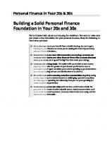 Personal finance in your 20s & 30s for dummies [3ed.]  9781119805441, 1119805449