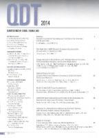 Quintessence of Dental Technology 2014 (Qdt Quintessence of Dental Technology) [2ed.]  9780867156607, 0867156600
