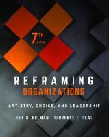 REFRAMING ORGANIZATIONS : artistry, choice, and leadership. [7ed.]  9781119756835, 1119756839