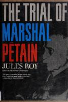 The Trial of Marshal Petain [1ed.]  9780571085385